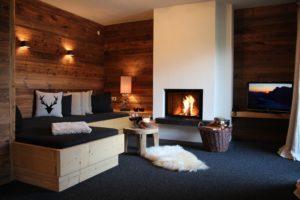 Kamin-Appartement Bergromantik mit offenem Holzkamin und herrlichen Liegen