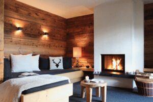 Chalet Tannenhof Lermoos Tirol Kamin-Chalet-Appartement mit Blick zur Zugspitze