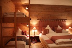 Gemütliches Familien-Zimmer mit Etagenbetten der Lieblingsplatz der Kinder