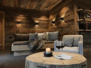 Chalet Tannenhof Kamin-Chalet-Appartement BERGFEUER mit Feuer und Butterfly-Sessel