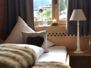 Chalet Tannenhof Kamin-Chalet-Appartement BERGFEUER  Blick zur Zugspitze